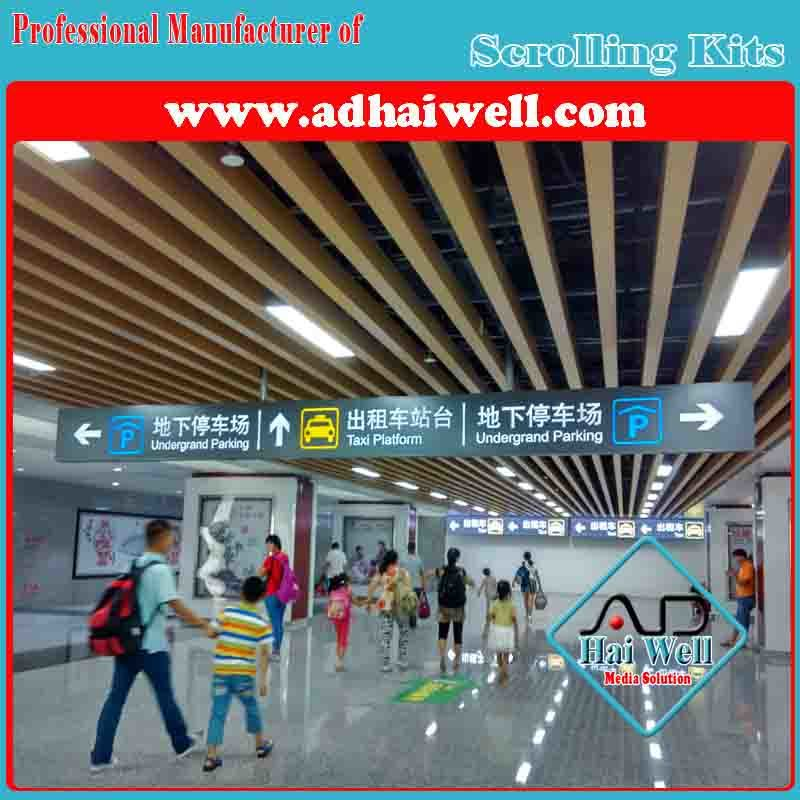 Bus Station/ Airport/ Mall Acrylic LED Directory Sign Board