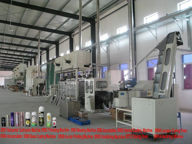 Aluminium Aerosol Can Production Line