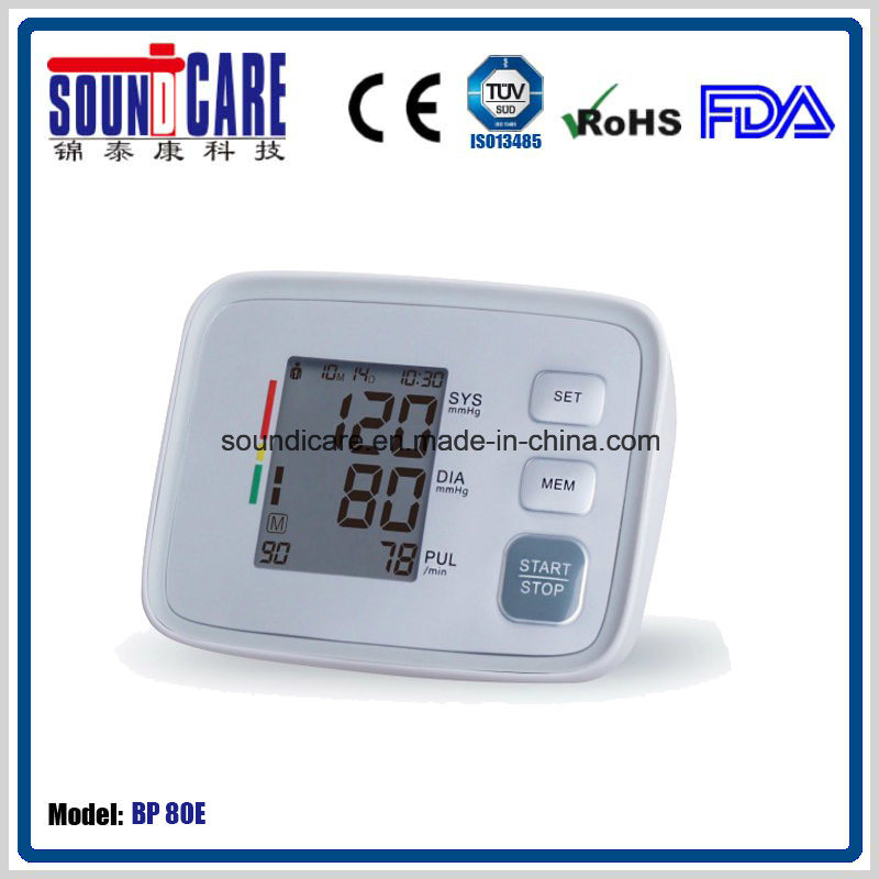 FDA Approved Electronic Digital Upper Arm Blood Pressure Monitor (BP 80E)