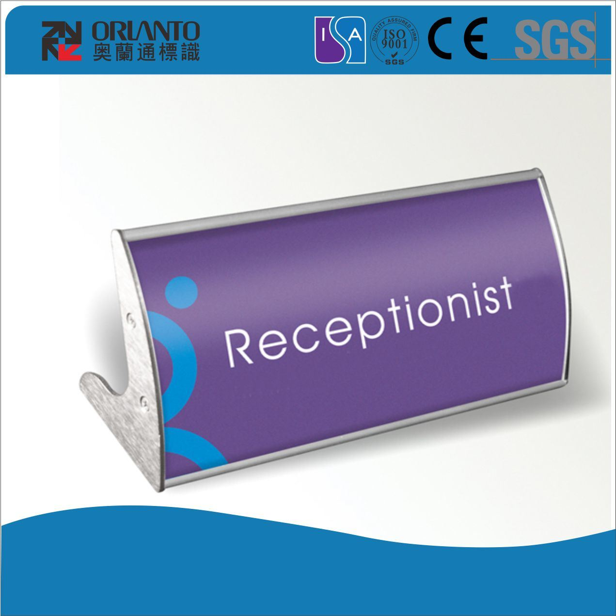 L-Type Stand Aluminium Table Desk Sign