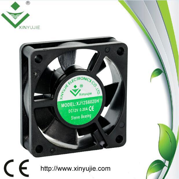 60*60*20mm DC Cooling Fan 2016 Hot Plstic Fan Made in China