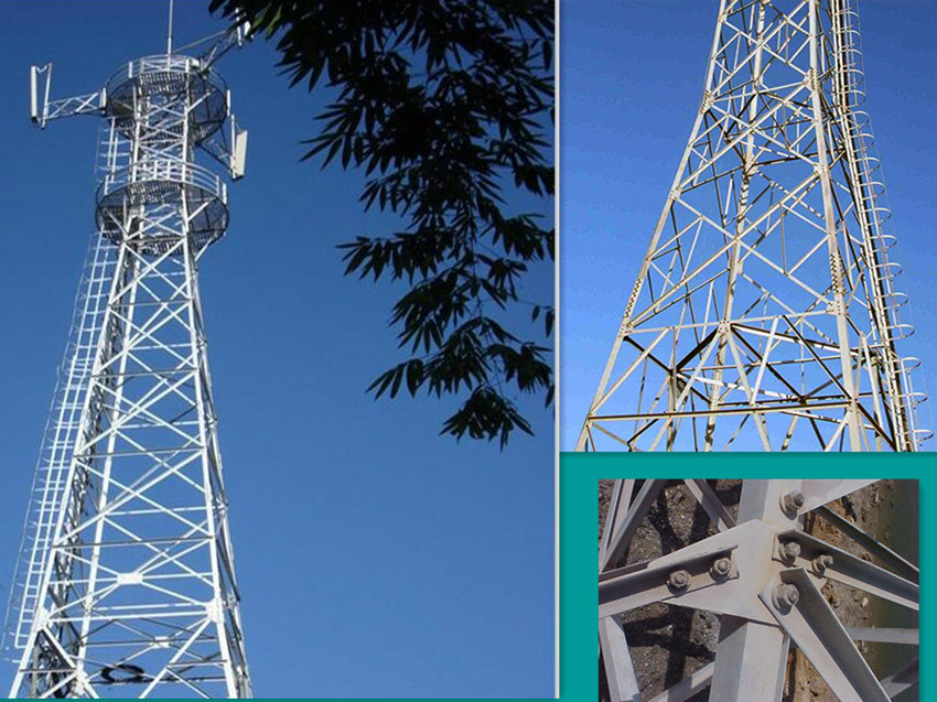 Long Service Life 40m 3 Legged Tower for Telecommunication