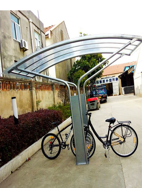 Outdoor Bike Shelter with 5 Parking Place Racks