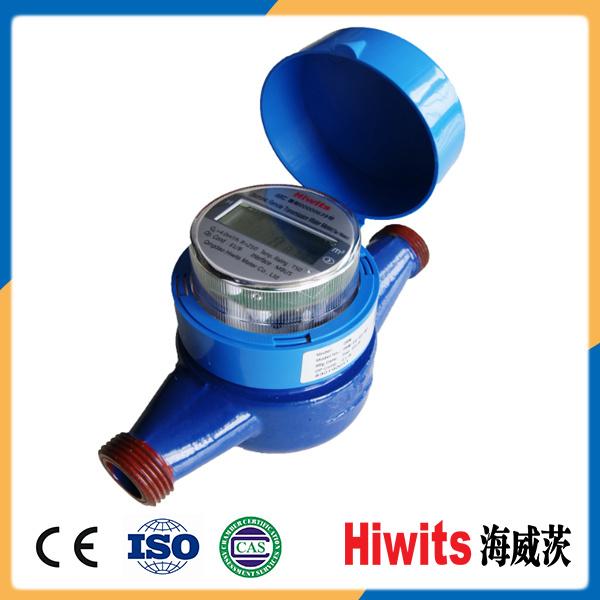 Household R250 Multi Jet Liquid Control Digital Remote Water Flow Meter