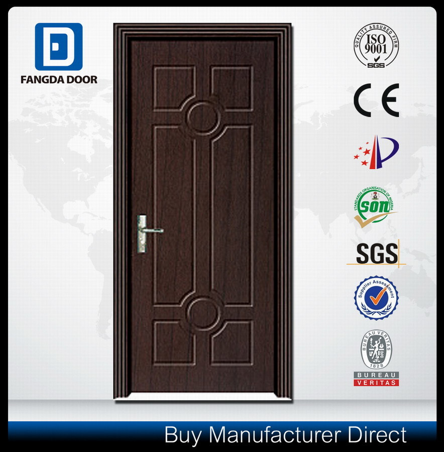 Affordable Fangda PVC Bathroom Utility Durable Wood Door