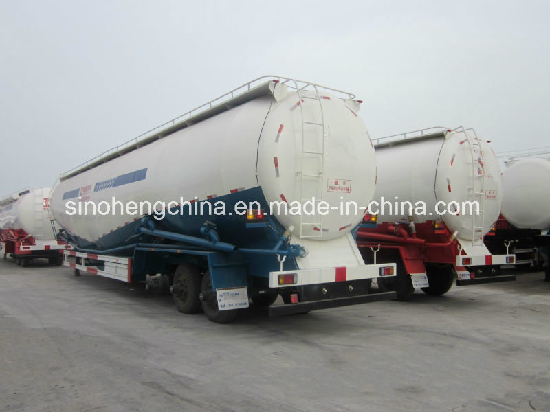 3 Axles Bulk Powder Tank Transport Semi Trailer