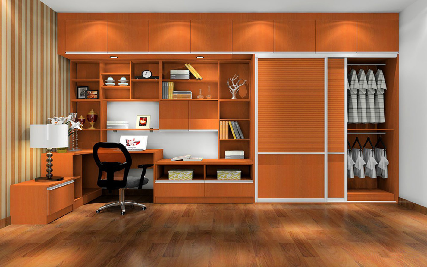 Solid Wood Sliding Door / Swing Door Wardrobe (zy-020)