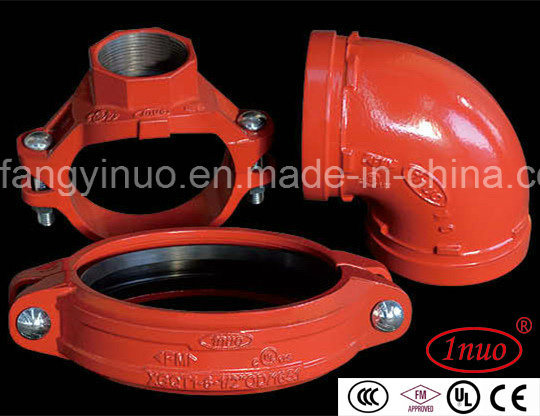 FM/UL Approval 300 Psi Ductile Iron Grooved Reducing Tee