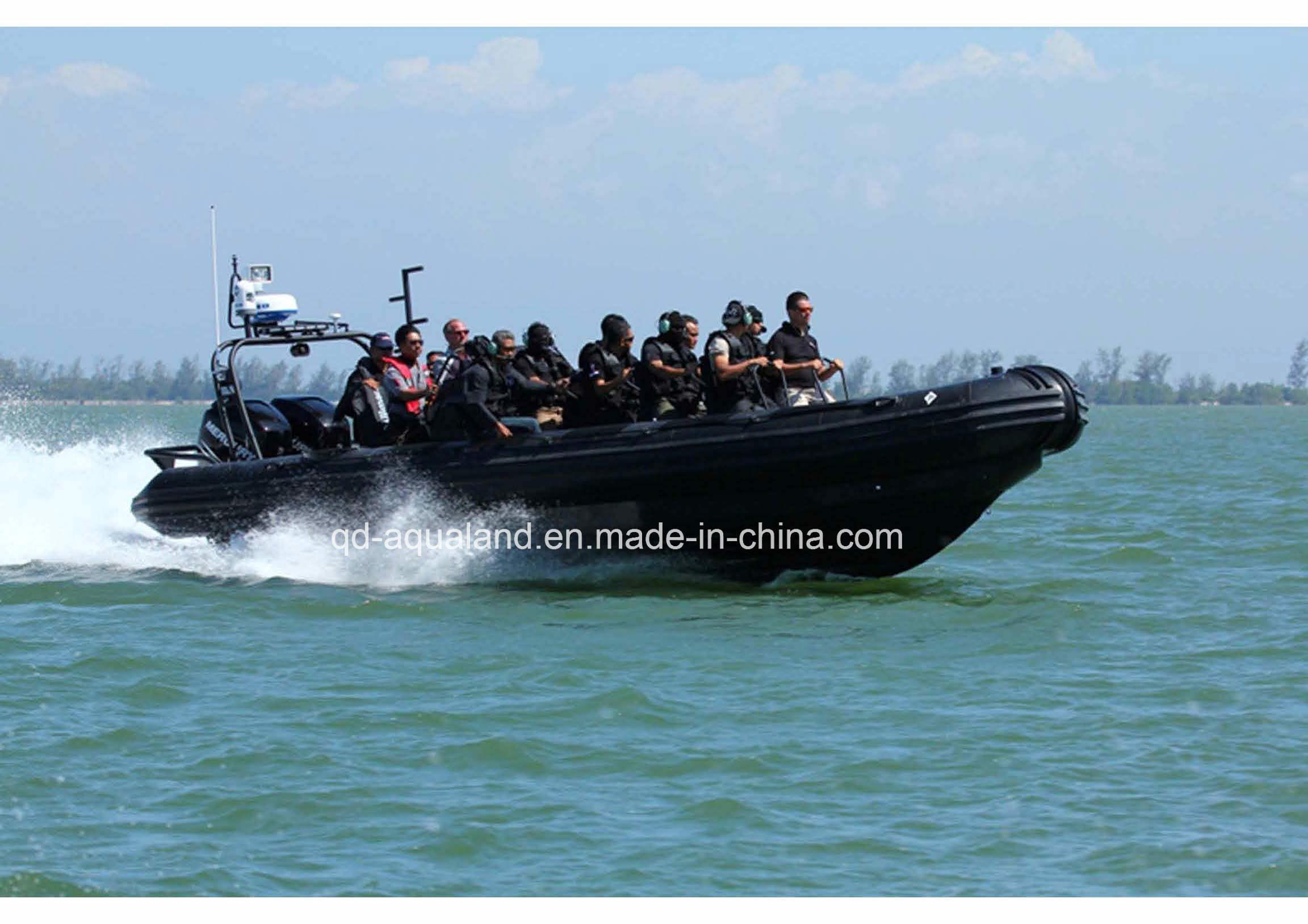 Aqualand 33feet 10.5m Military Rigid Inflatable Boat/Rib Patrol Boat (RIB1050)