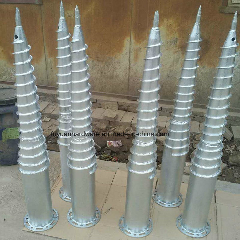 Krinner Type Hot DIP Galvanized Ground Screw with Flange