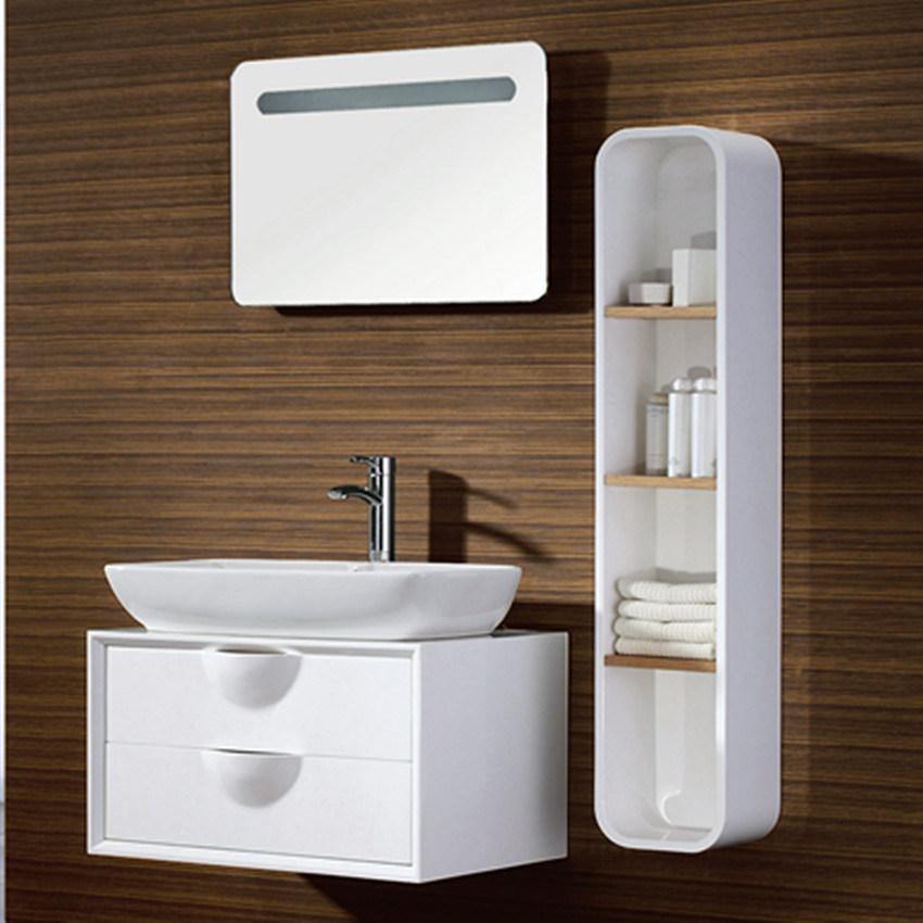 2012 Fashion moderno Plywood Bathroom Cabinet com Side Cabinet FS005 –2012 Fa # Banheiro Moderno Madeira