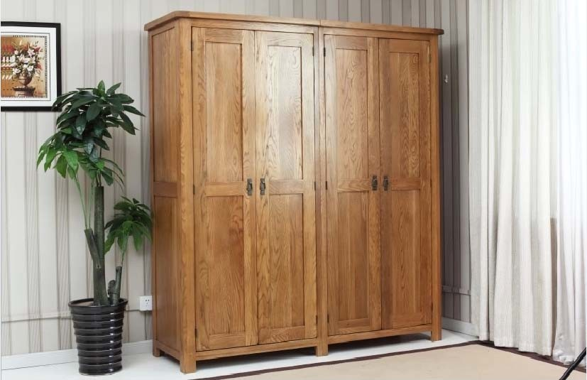 Solid Oak Wood Wardrobe with High Quality (M-X1078)