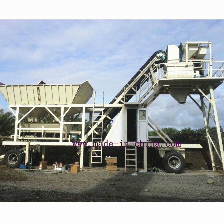 25m3/H Full Automatic Mobile Concrete Mixing Plant / Concrete Batching Plant