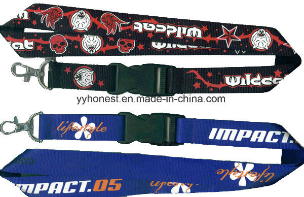 2017 Promotional Custom Silk Screen Printed Polyester Neck Lanyard