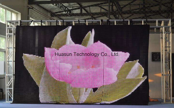 Portable Flexible LED Curtain with Light Weight and Easy Installation