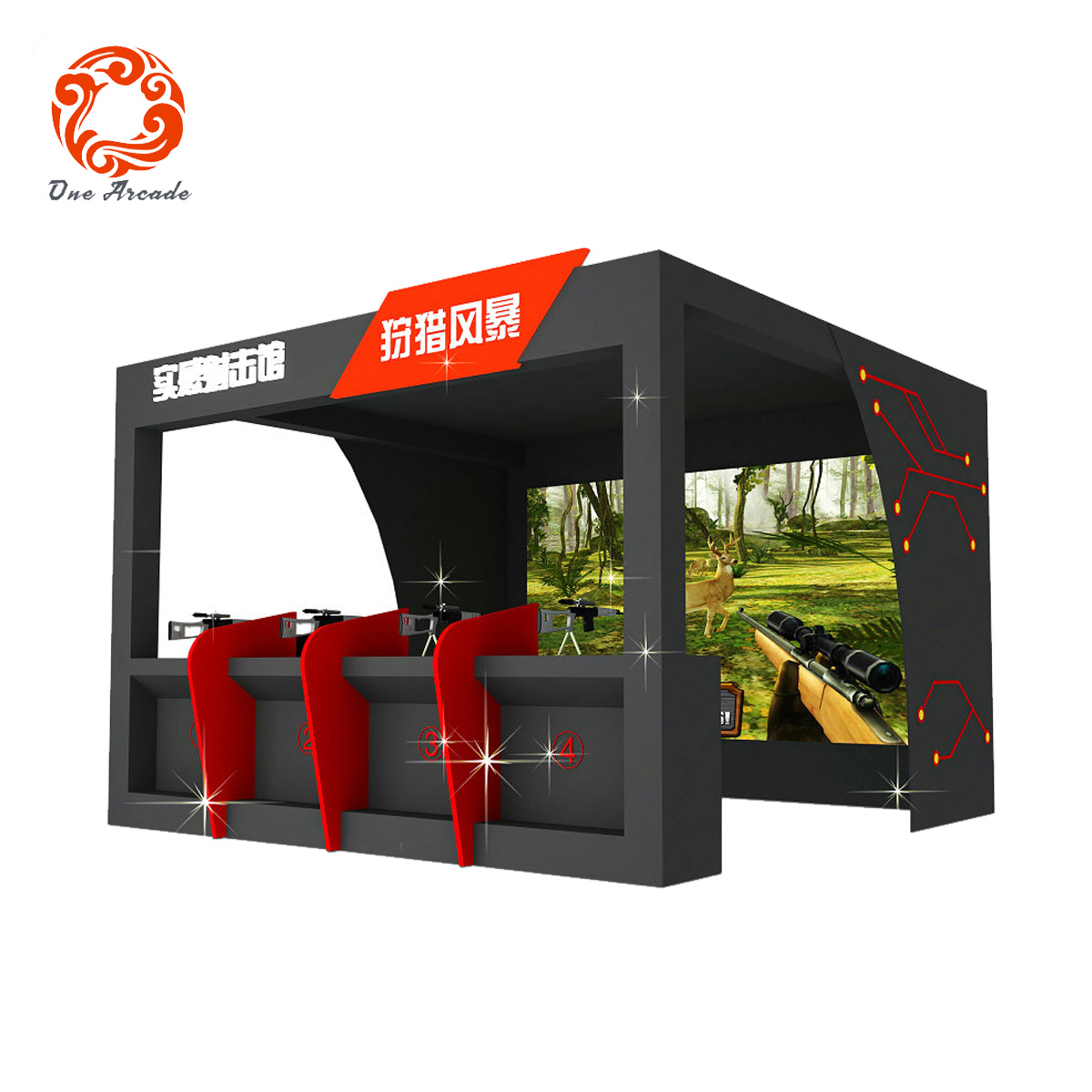 Economic and Efficient 9d Vr Hunting Shooting Simulator Game Machine