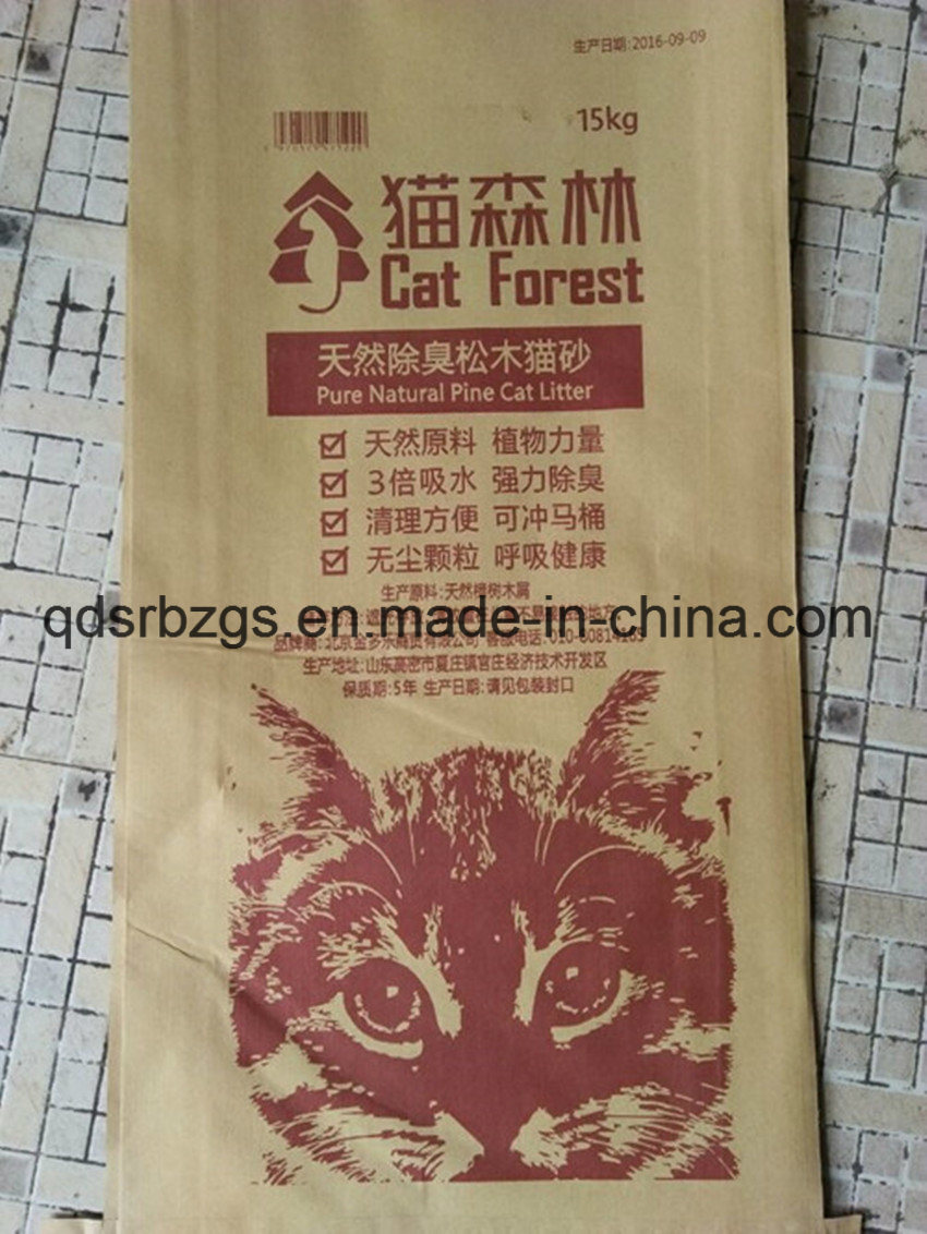 New Material Plastic Packaging PP Woven Cat Litter Bag / Sack
