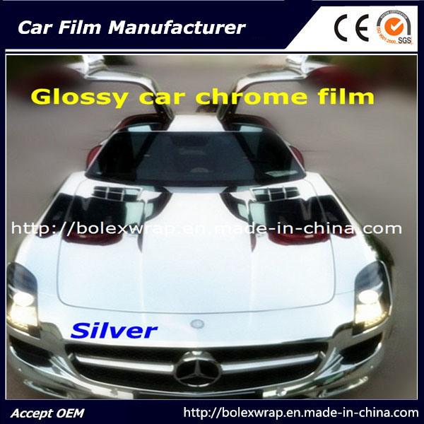 Silver Glossy Chrome Film Car Vinyl Wrap Vinyl Film for Car Wrapping Car Wrap Vinyl