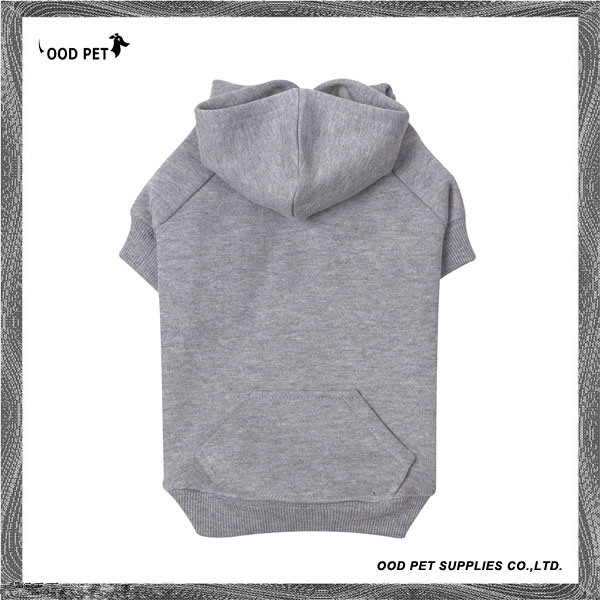 Gray Plain Basic Dog Hoodies Sph6001-4