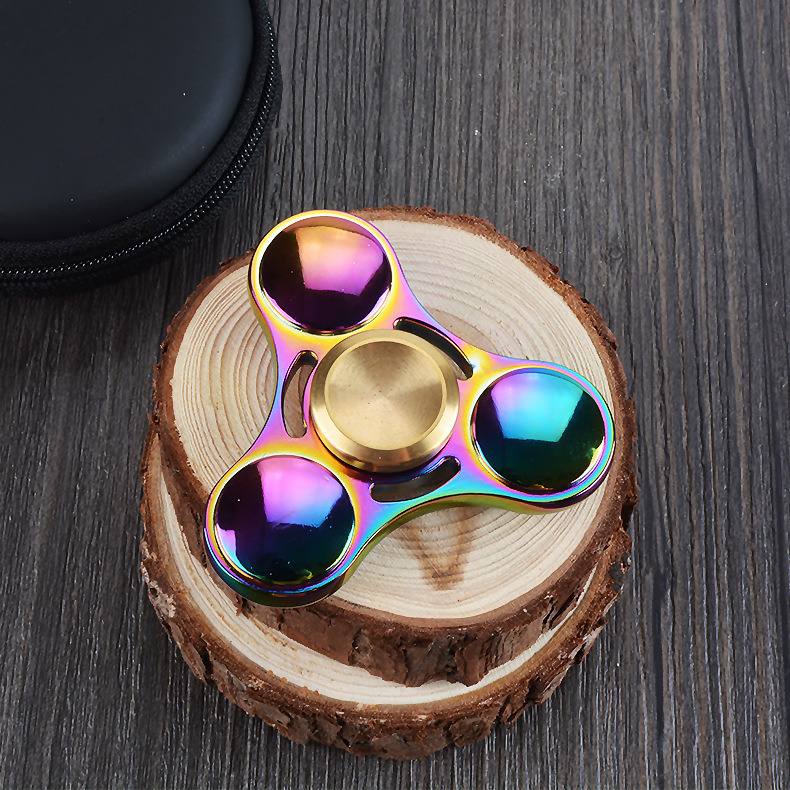 Rainbow Zinc Alloy Hand Spinner Spinning More Than 3 Minutes