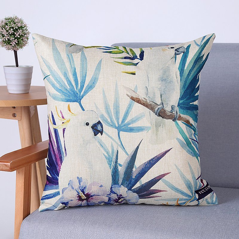 Digital Print Decorative Cushion/Pillow with Birds&Peacock Pattern (MX-69)