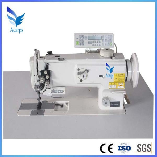 Double Needle Compound Feed Lockstitch Sewing Machine