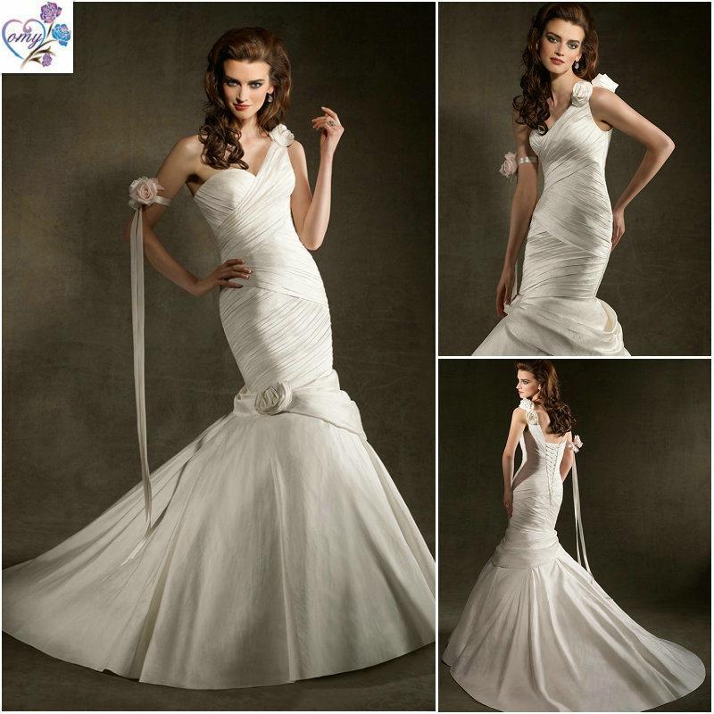 China One Shoulder Mermaid Wedding Dress WD057 China Wedding Dresses Mer