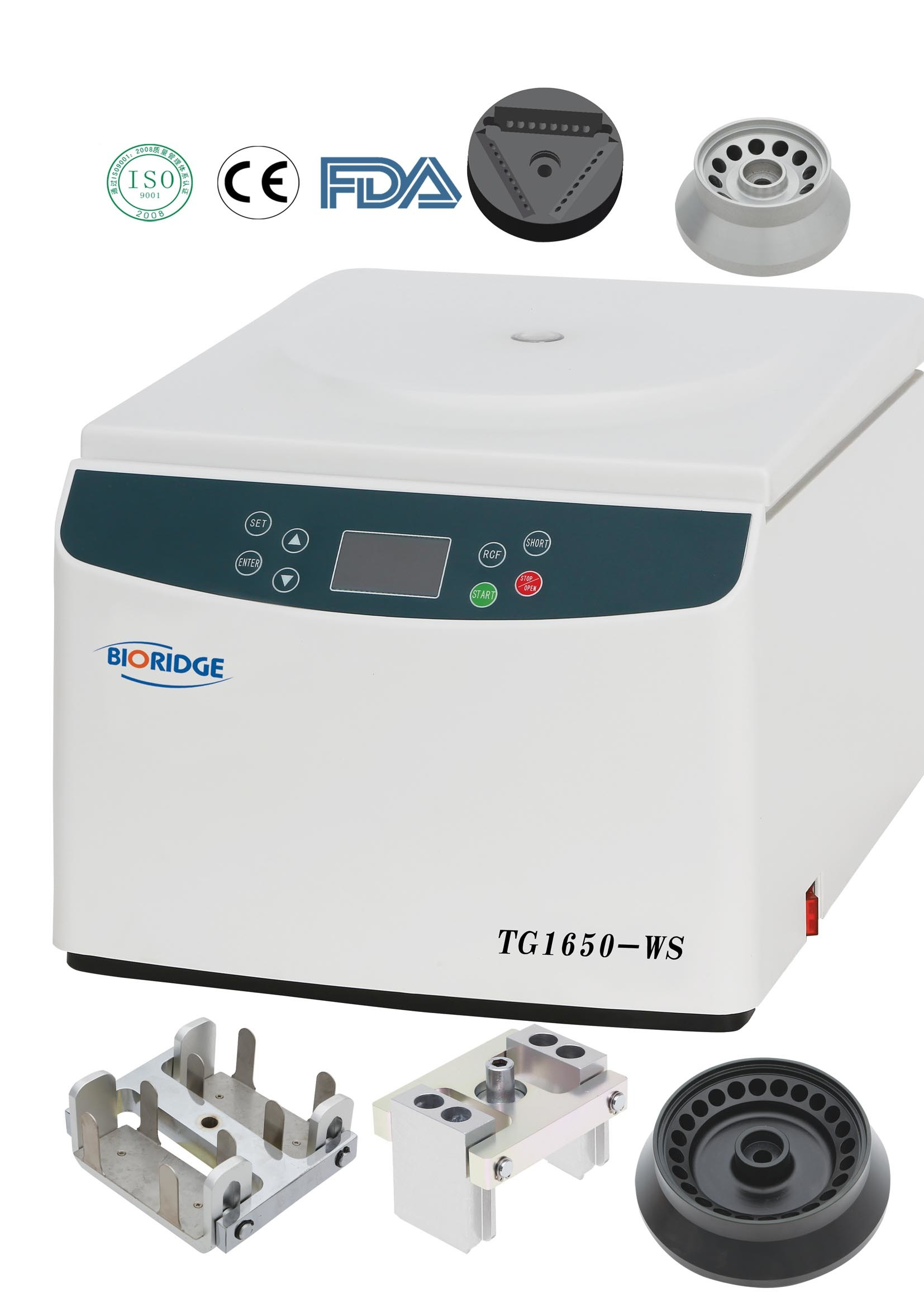 Tabletop High Speed Centrifuge (TG1650-WS)