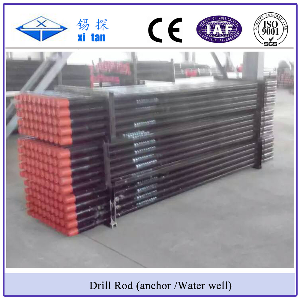 Xitan API Screw Anchor Drill Rod Water Well Drill Rod Frition Weld Drill Pipe