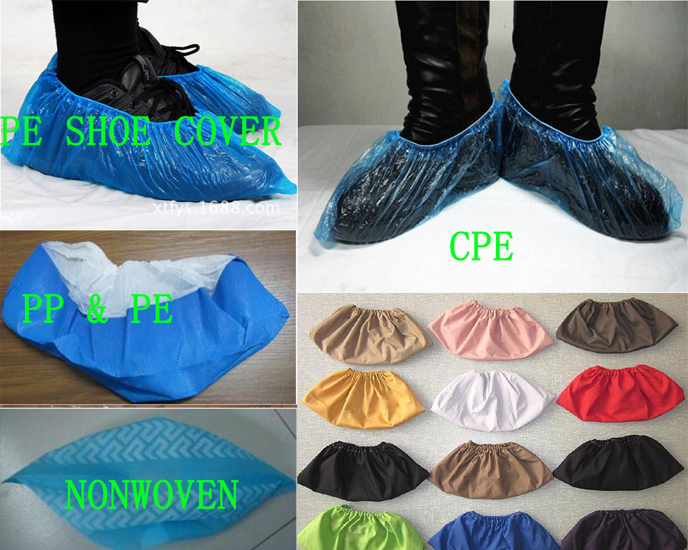 Disposable Nonwoven PP/PE/CPE Medical Shoe Cover Ready Made Kxt-Sc14