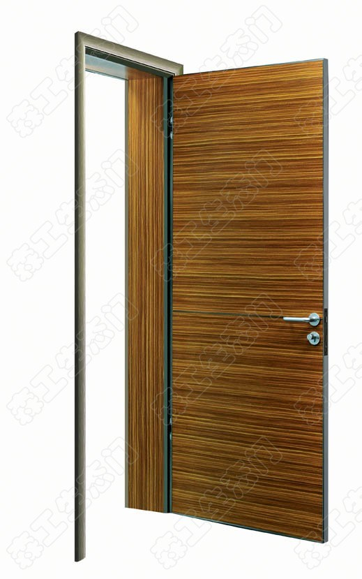 Wood Entrance Door, Aluminum Timber Door, Interior Wooden Door