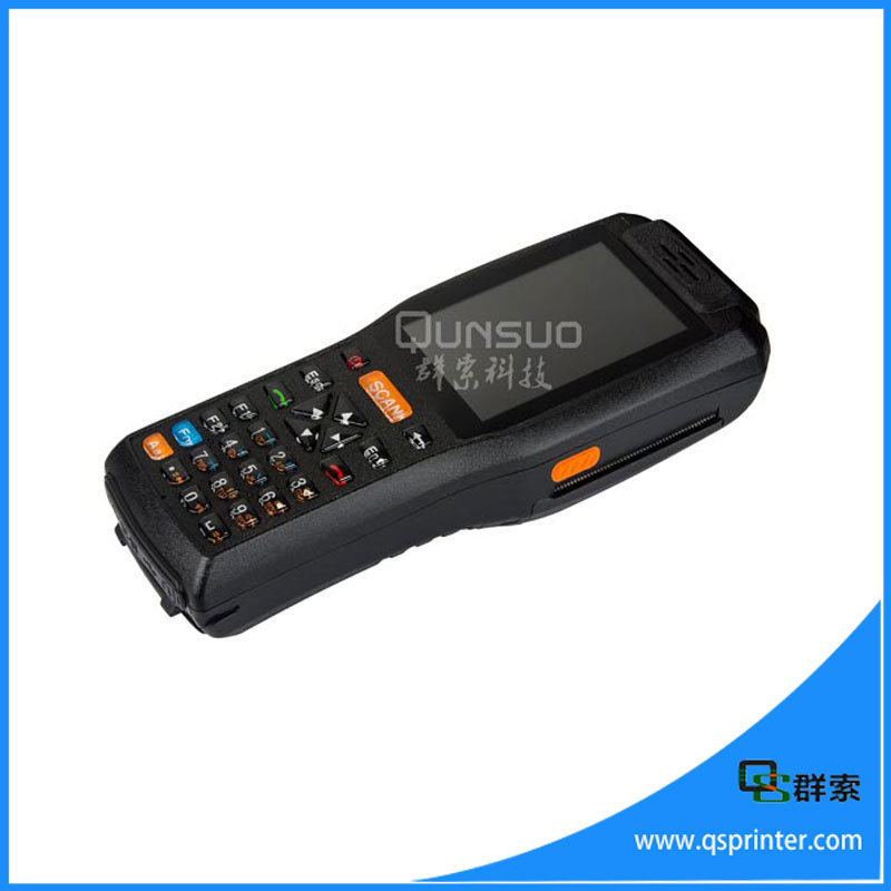 Professional Barcode Scanner Android PDA with Printer Wireless Mobile Data Terminal