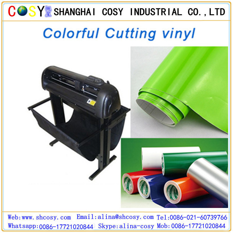 Color Cutting Plotter Self Adhesive Vinyl Sticker Advertising Material