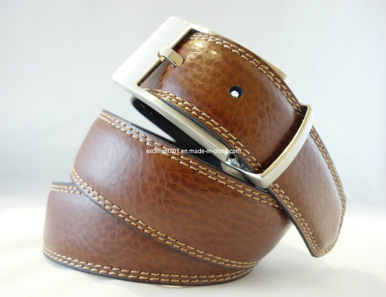 Fashion Men′s Leather Belt with Reversible Buckle (EU3601-35)
