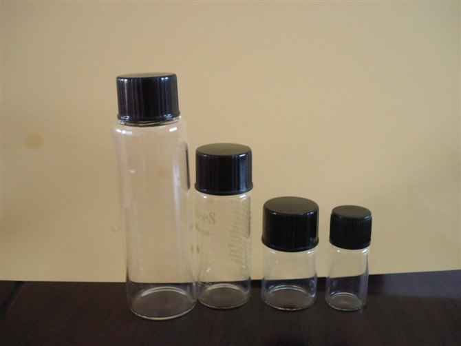 Amber Tubular Screwed Glass Bottle for Medical Supply