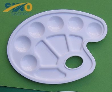 Round Plastic Palette 10 Wells for Art Painting/Student /Kids/Artist
