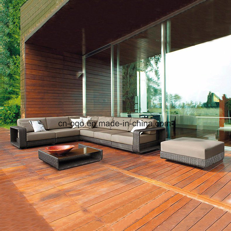 Outdoor L Shape Sofa Leisure Sofa Garden Furniture Rattan / Wicker Sofa (S220)
