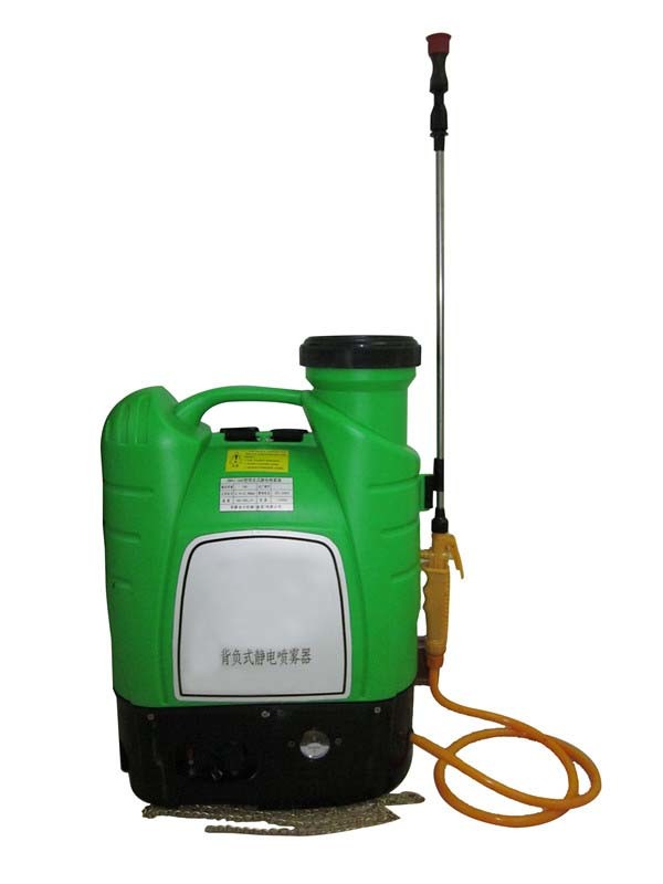 China Knapsack Electrostatic Sprayer on dc motor source