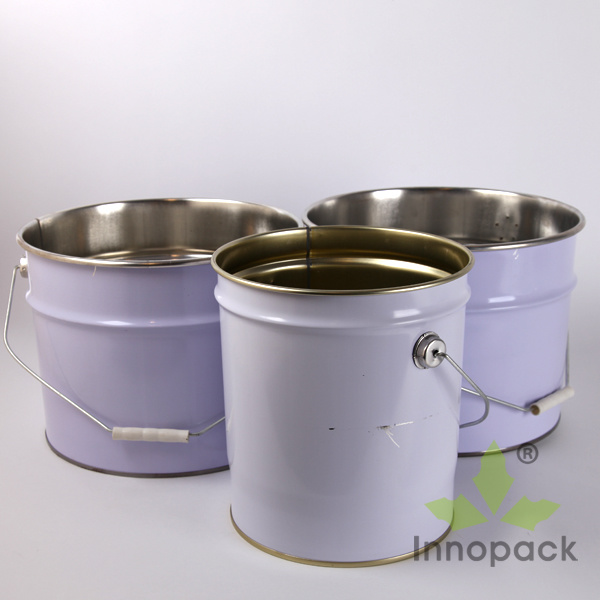 5 Gallon Round Paint Metal Tin Bucket