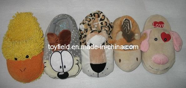 Plush Slipper Shoes Animal Shape