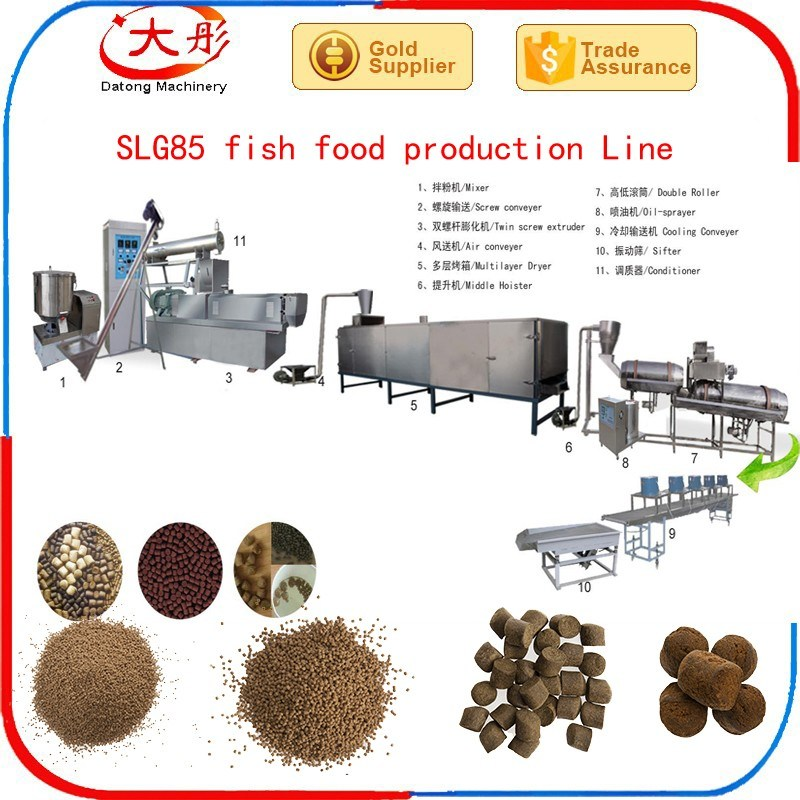 Floating Pet Fish Food Feed Pellet Making Extruder Machine
