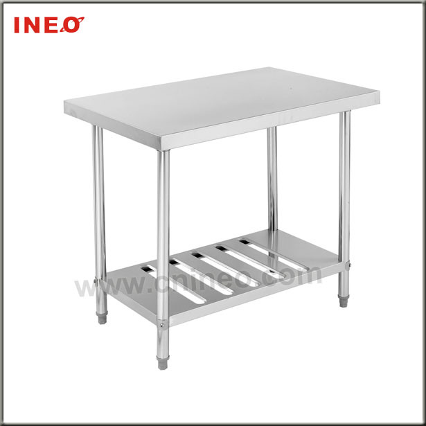 stainless steel kitchen work table with shelf dm16