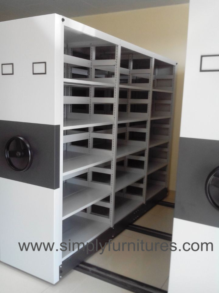 High Density Mobile File Storage Shelving