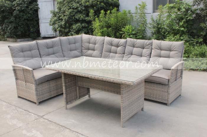 Outdoor Rattan Garden Furniture Set Patio Furniture Wicker Corner Sofa Dining Set (MTC-282)