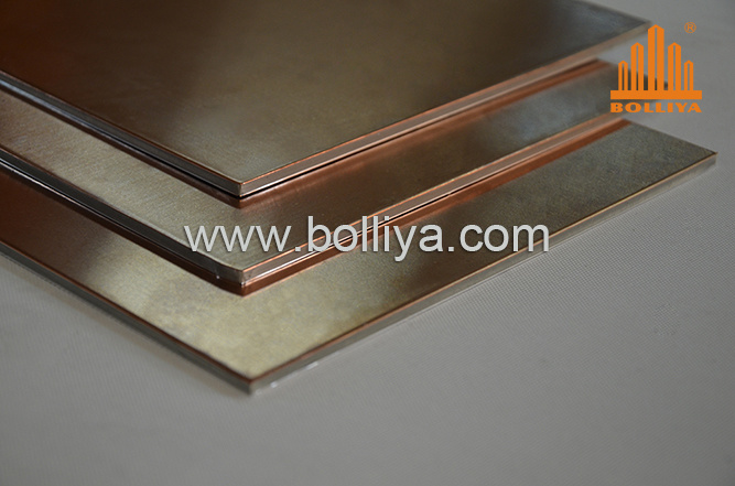 Exterior Interior 3mm 4mm 25mm 10mm 20mm Oxidized Patina Natural Brass Fr Fire Rated Retardant Fireproof Copper Honeycomb Composite Panel for Facade Cladding