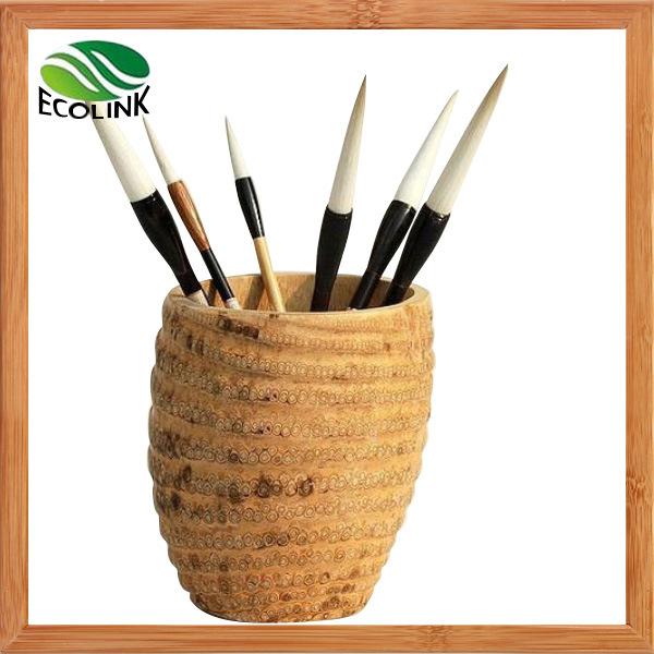 Bamboo Root Writing Brush Holder