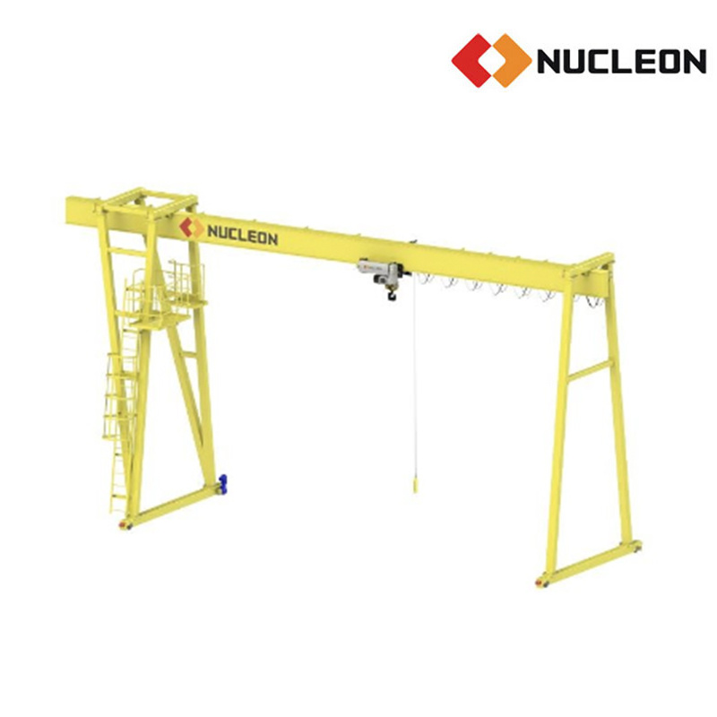 Ce Certified Outdoor Used Single Girder Gantry Crane 16 Ton