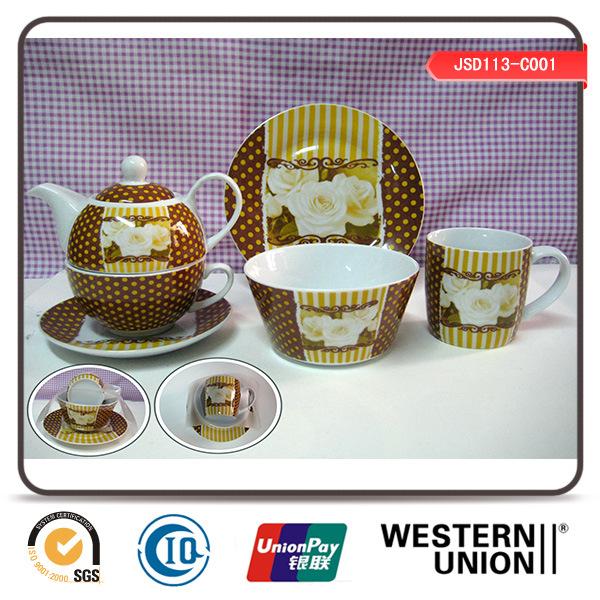 6PCS Children Tableware in Porcelain