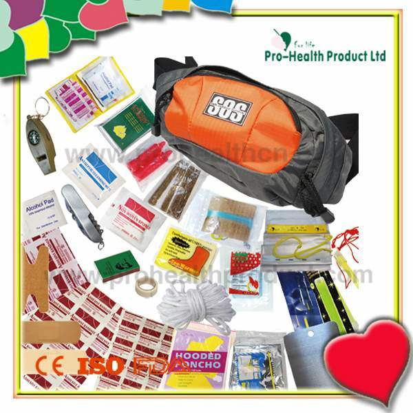 Wholesale Outdoor Travel Medical Emergency Survival First Aid Kit(pH075)