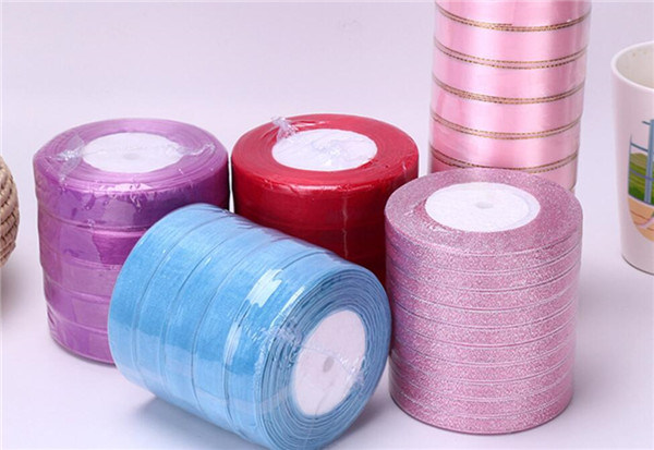 """Solid Color Satin Ribbon 3/8"""" X 5 Yard Each Total 50 Yds Per Package"""